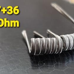 Pitbull Alien tricore ni80 3x27+36- 0,27 ohm Handmade - Uk wires.  (2τεμ.)