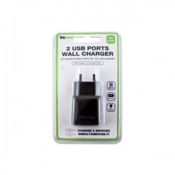 Wall Charger USB 2 Ports 2.4A - Tekmee.