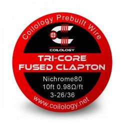 Coilology Ni80 Tri-Core Fused Clapton Wire 3X26+36
