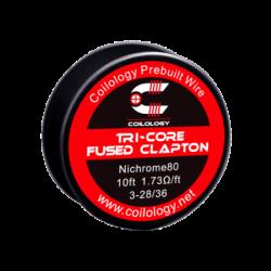 Coilology Ni80 Tri-Core Fused Clapton Wire 3X28+36