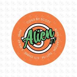 Coils By Scott Alien Claptons 0.11ohm,3.5mm
