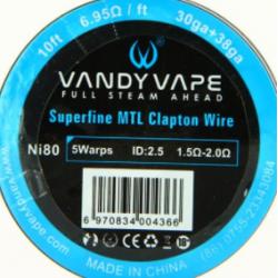 VANDY VAPE SUPERFINE MTL CLAPTON Ni80 30ga+38ga