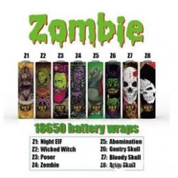 Wraps 18650 (5pcs) - Zombies Series