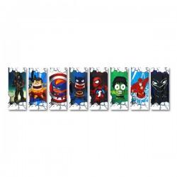 Wraps 18650 (5pcs) - Super Heroes Series.